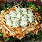 салат гнездо глухаря без перепелиных яиц